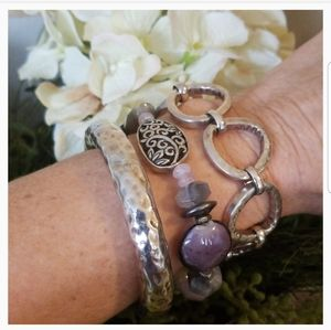Silpada ~ Amethyst Stretch Bracelet